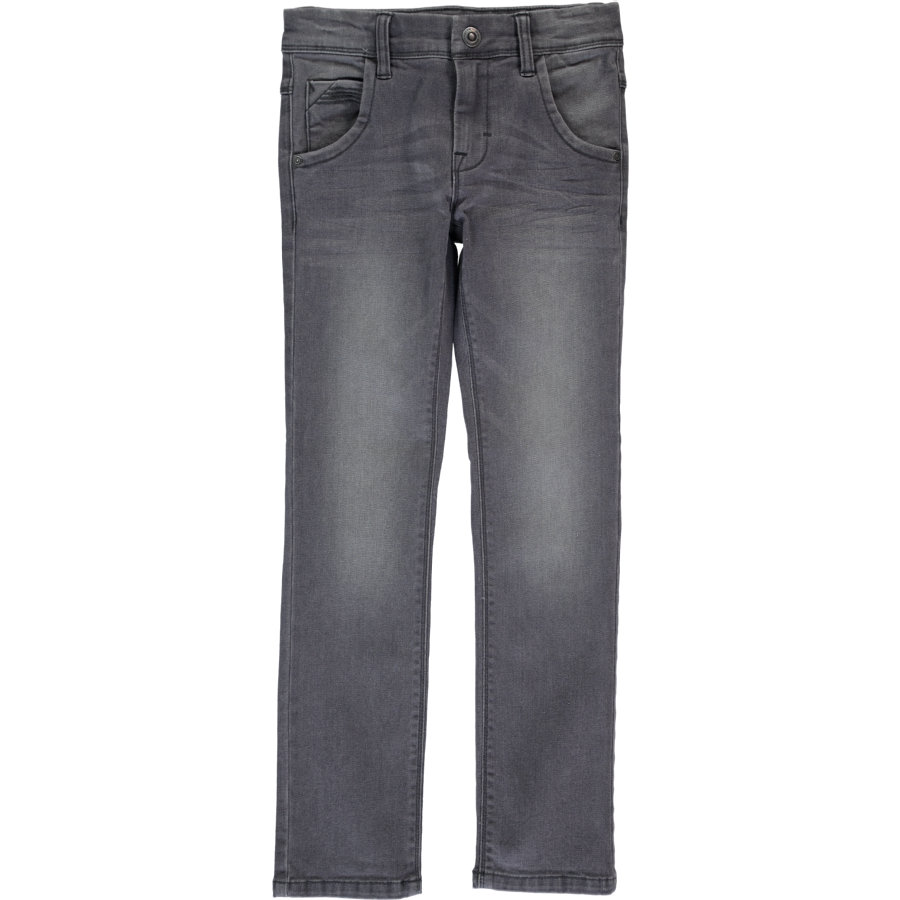 name it Boys Mini Džíny Ted dark grey denim