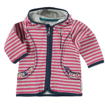 Sterntaler Girl Sweat Jacket Emilie magenta z kapturem.