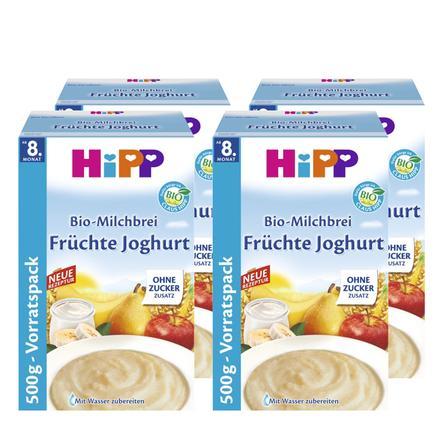 HIPP Bio Milk Mash Fruit Yoghurt 4x500g