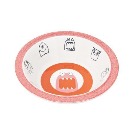LÄSSIG Melamine Kom met silicone rand Little Monsters Mad Mabe pink