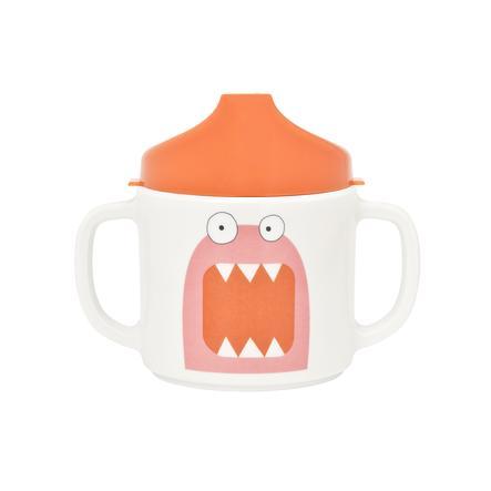 LÄSSIG Kubek z melaminy Little Monsters Mad Mabel pink