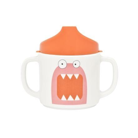LÄSSIG Melamin Tasse mit Silikonrand Little Monsters Mad Mabel pink