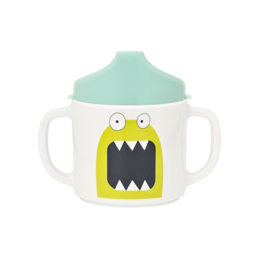 LÄSSIG Melaminový hrníček Little Monsters Bouncing Bob modrý