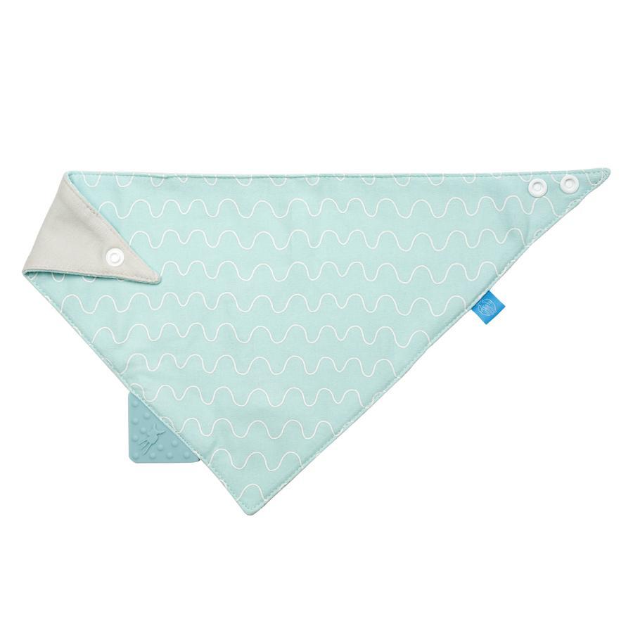 LÄSSIG Šátek Bandana Vibration modrý s kousátkem