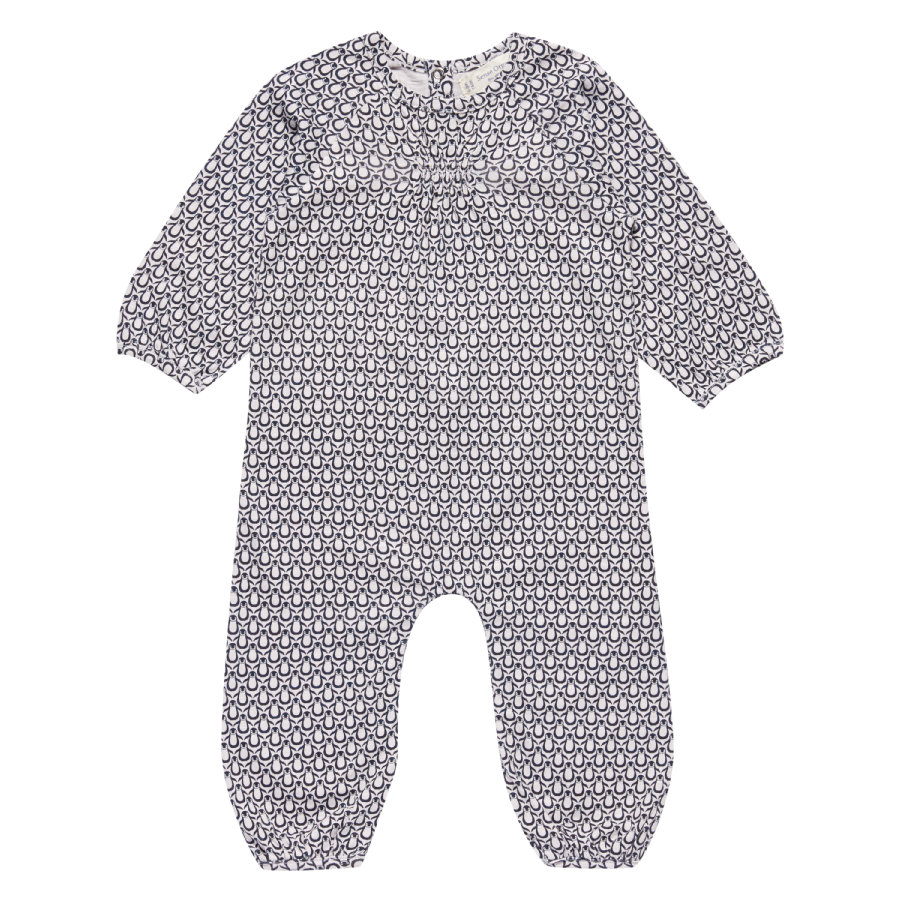 Sense Organics Girls Strampler Wiebke penguins pale ice
