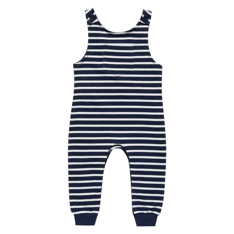 Sense Organics Boys Overall Simba black navy stripes