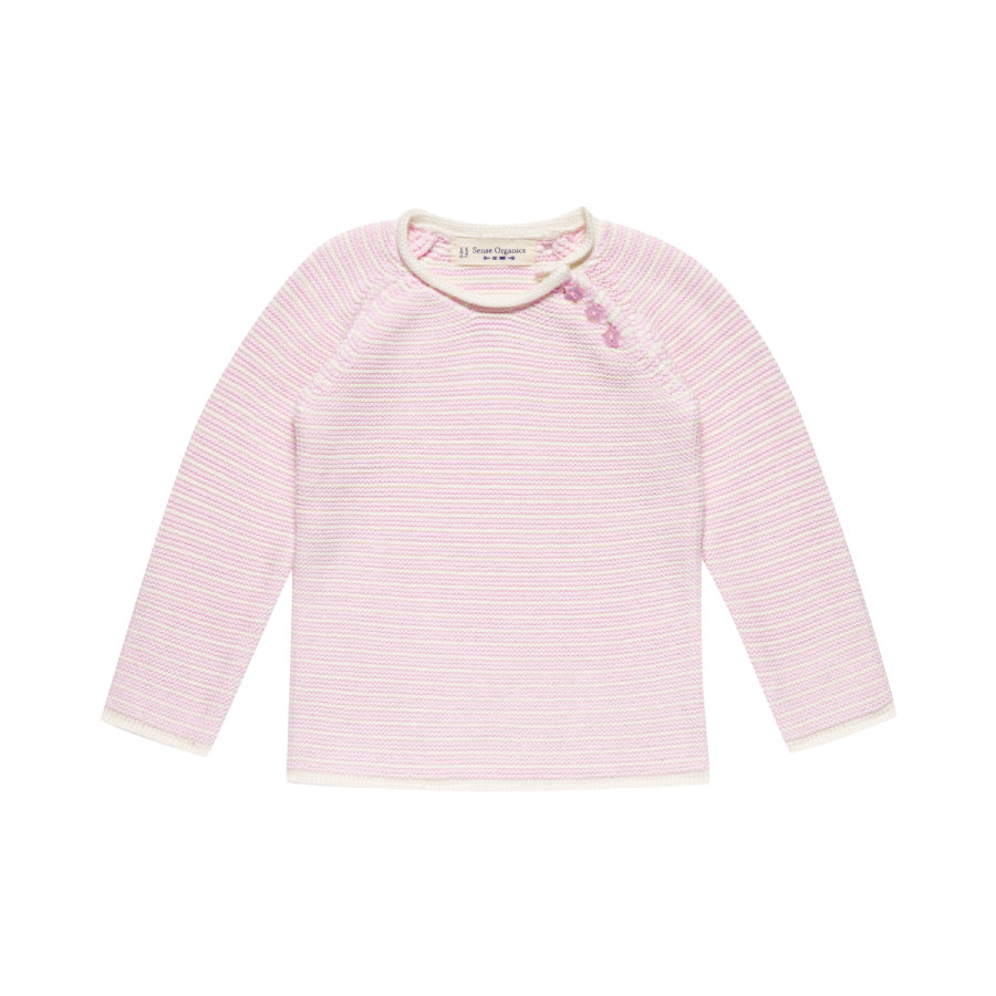 Sense Organics Girls Strickpullover Victor lilac stripes