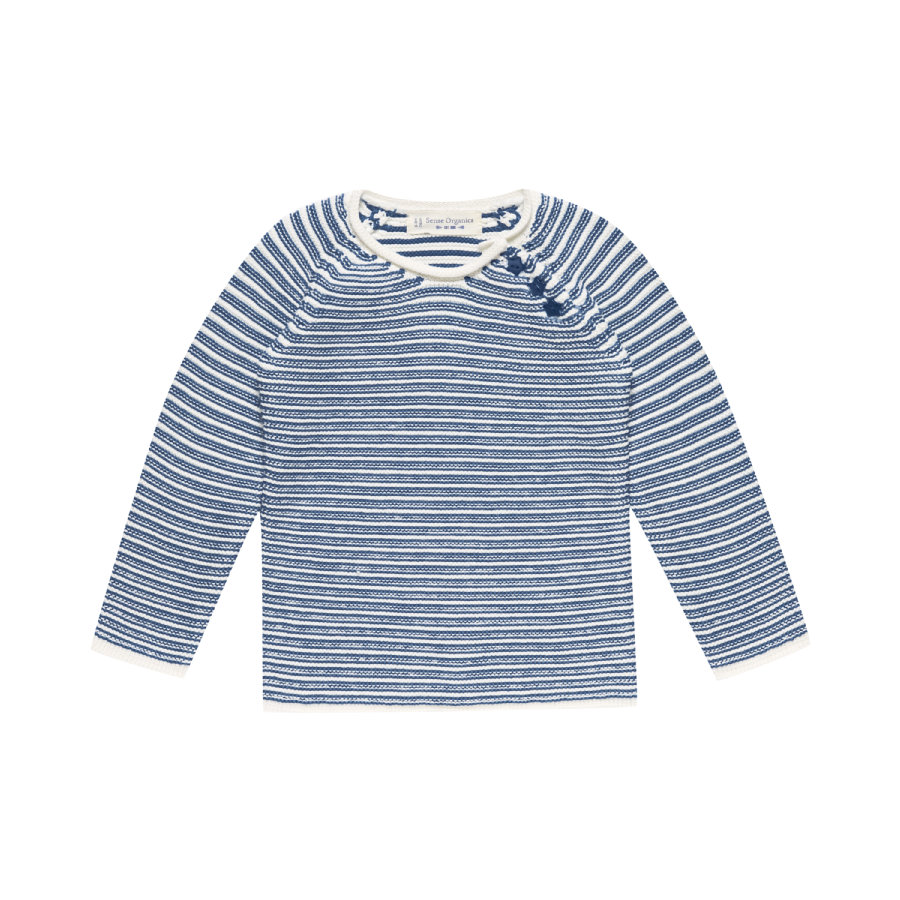 Sense Organics Boys Strickpullover Victor navy black stripes