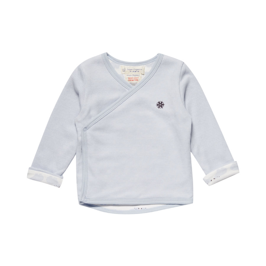 Sense Organics Boys Wickelwendejacke ice blue stripes