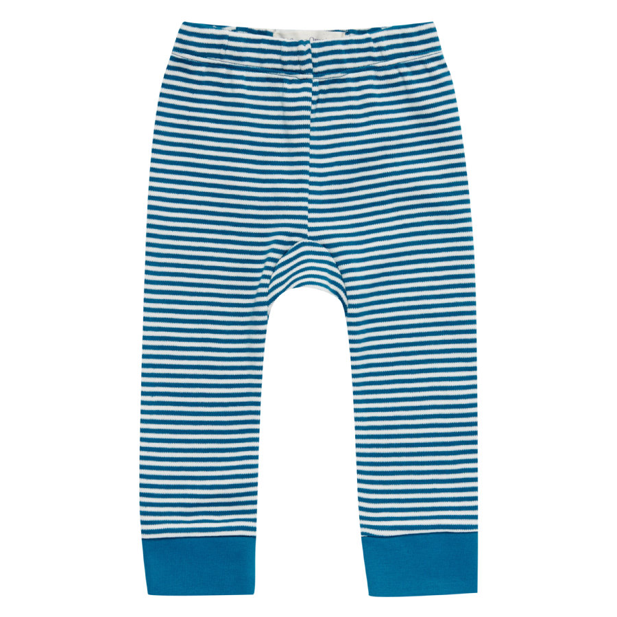 Sense Organics Boys Sweathose bright retro teal stripes