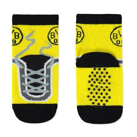 Skarpety BVB Stopper dla dzieci w kolorze czarno-żółtym.