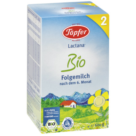 TÖPFER Lactana Organic 2 Follow-On Formula 600g