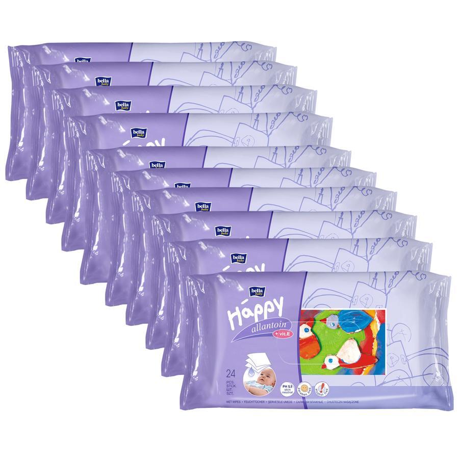 BELLA Happy Lingettes, allantoïne et vitamines E, 10 x 24 pièces