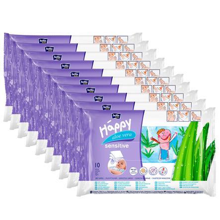 BELLA Happy Lingettes Sensitive, 10 x 10 pièces