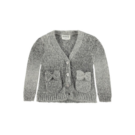 KANZ Girl s Baby cardigan wolven grijs gemêleerd babyvestje