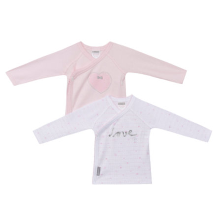 absorba Girls Baby Wickelshirts 1/1 Arm rosa/weiß 2-er Pack