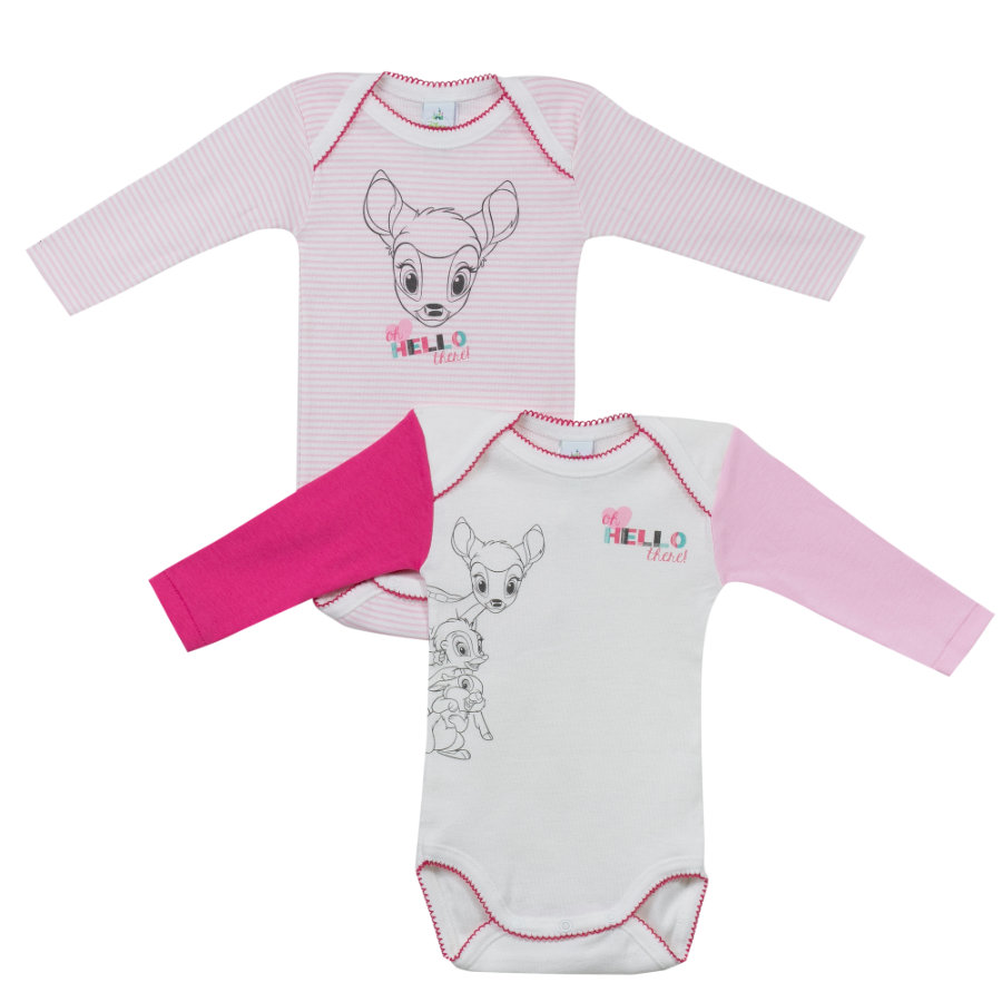 absorba Girl s Cuerpos 2-pack blanco/rosa