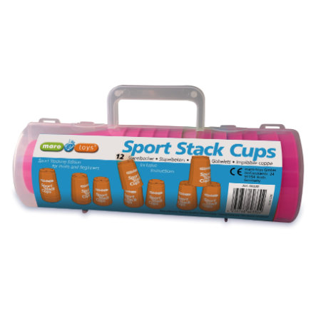 MARO TOYS Gobelets Sport Stack, 12 pièces