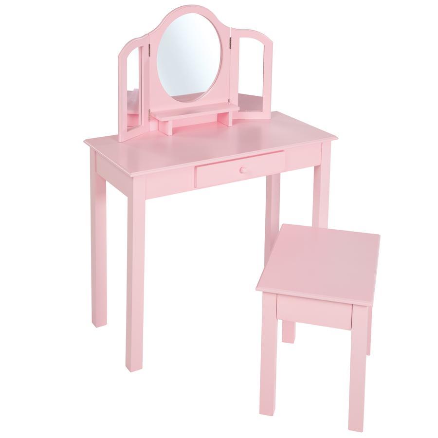 roba Sminkbord med stol, rosa