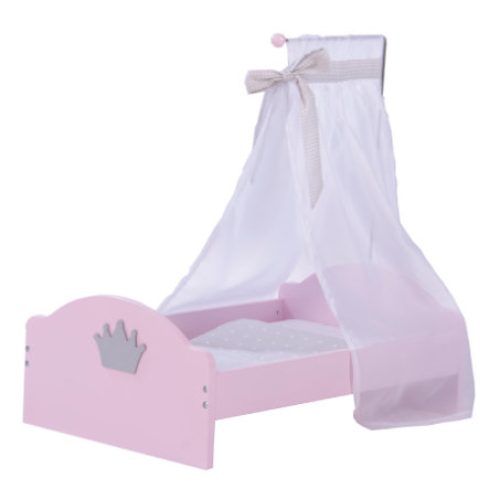 roba Puppenstandbett Prinzessin Sophie, Rosé lackiert