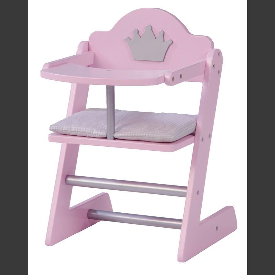 roba Krzesełko do karmienia dla lalki Prinzess Sophie, Rosé, lakierowane