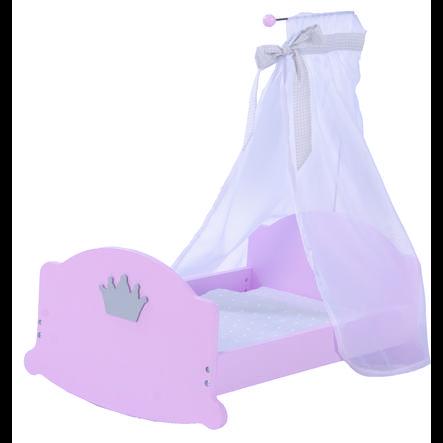 ROBA Berceau pour poupée Princesse Sophie, laqué rosé