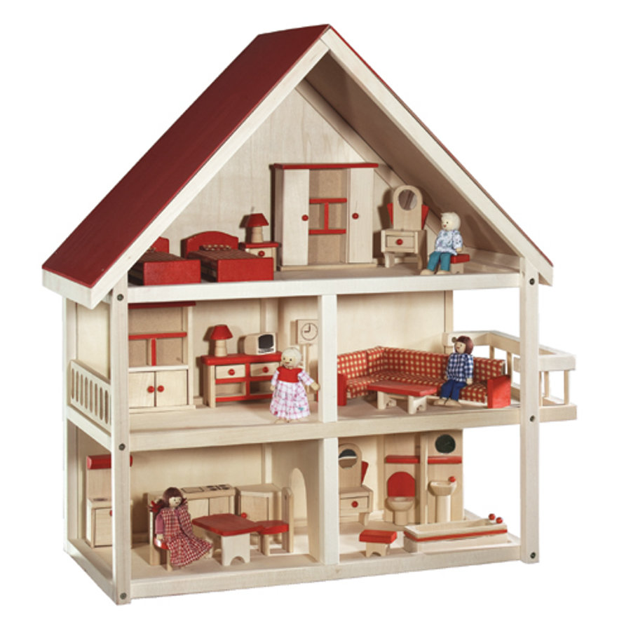 Roba poppenhuis hout for Poppenhuis hout