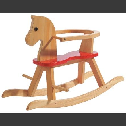 roba Houpací kůň dřevěný, barevně nalakovaný