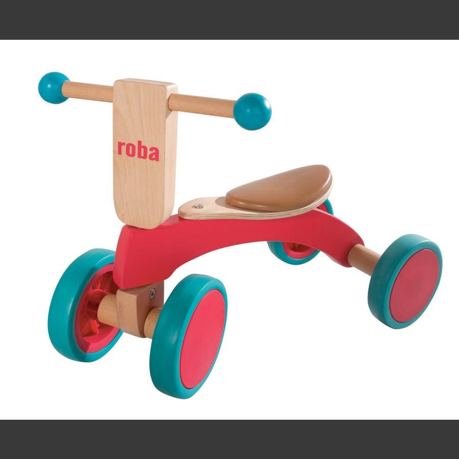 ROBA firehjulet løbecykel træ, lakeret