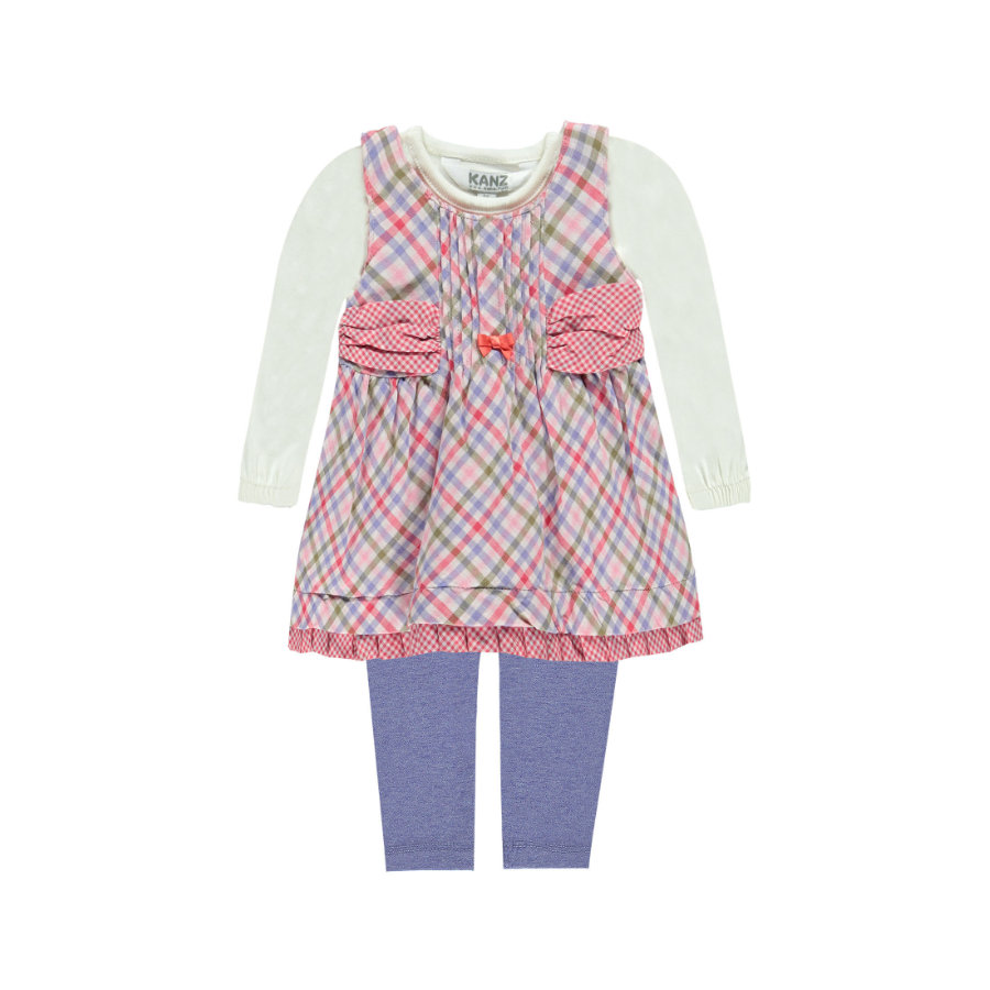 KANZ Girls Set 3-teilig Kleid und Leggings rosé