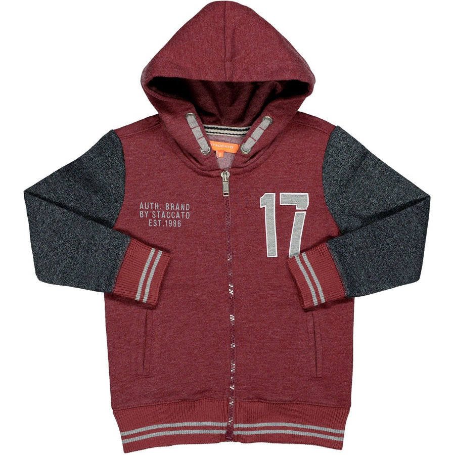 STACCATO Boys Kapuzensweatjacke deep red melange