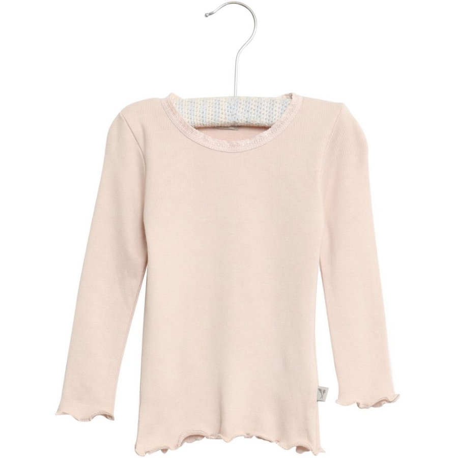 WHEAT Rib T-Shirt Lace LS powderrose