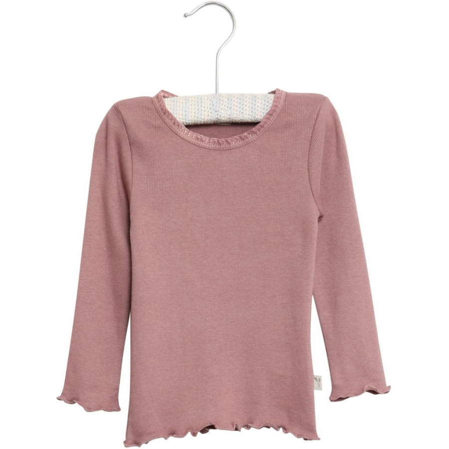 WHEAT Rib T-Shirt Lace LS lavender
