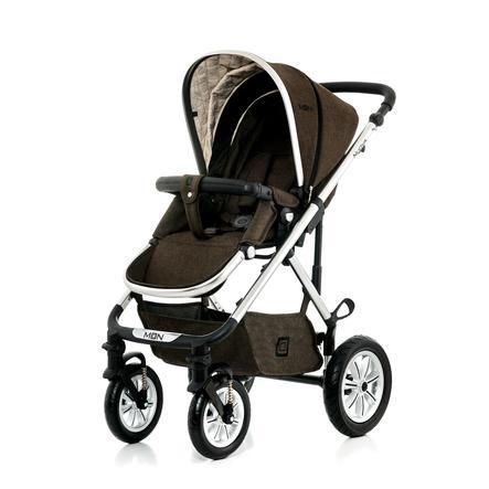 MOON Combi-Kinderwagen Nuova Set City brown melange