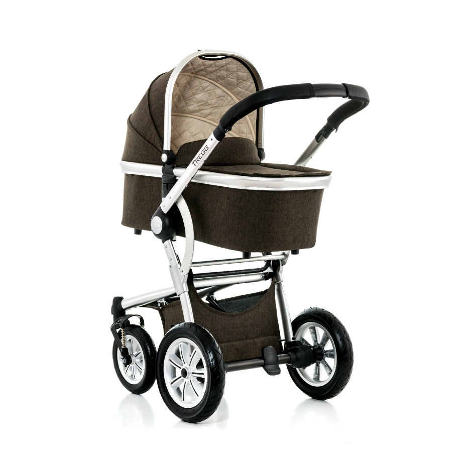 MOON Combi Kinderwagen Tregg Set City 978 brown melange