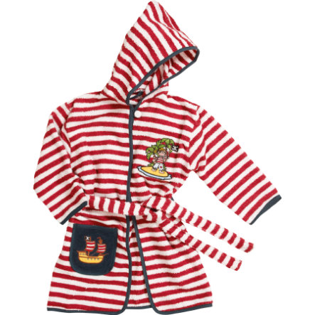 Playshoes Boys Frotte-Bademantel Pirateninsel