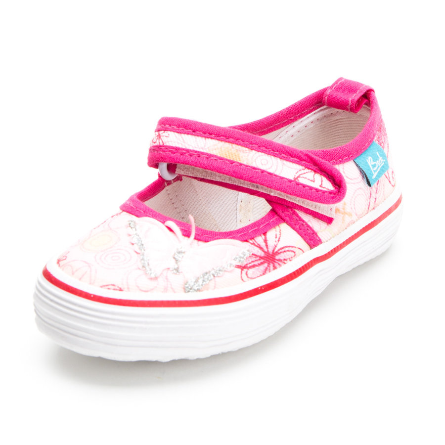 Beck Girls Leinenschuh Heart rosa