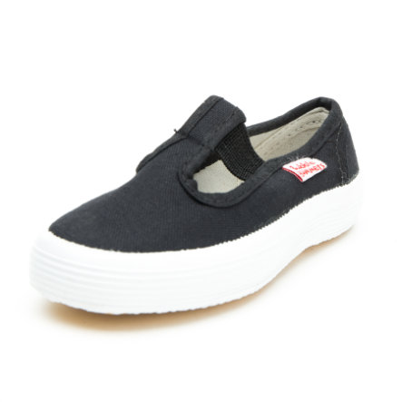 Beck Zapatos de lino Basic negro