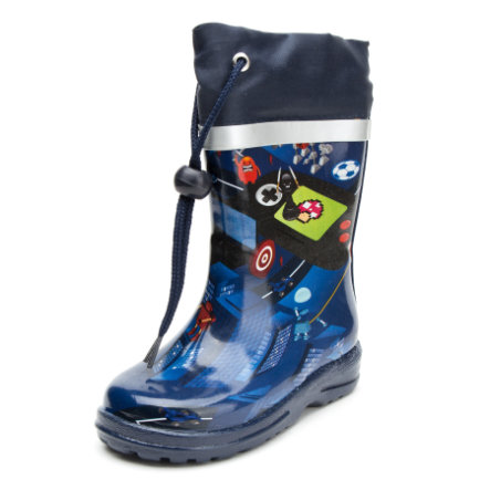 Beck rubber Boys laarzen spel donkerblauw