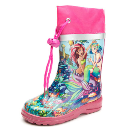 Beck Girl s rubber laarzen zeemeermin veelkleurige zeemeermin