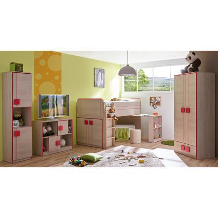 TiCAA Kinderzimmer Camo 4-teilig rot