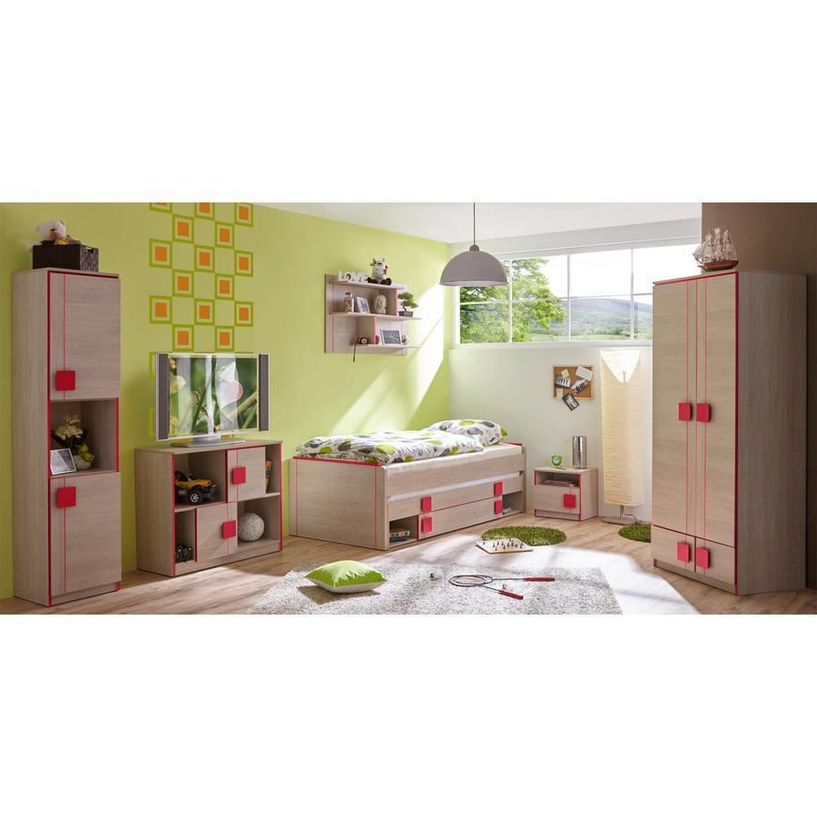 TiCAA Kinderzimmer Camo 6-teilig rot