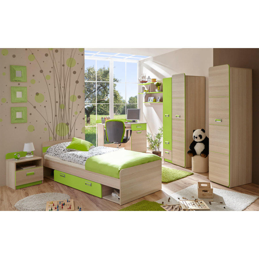 ticaa jugendzimmer lori 6 teilig gr n. Black Bedroom Furniture Sets. Home Design Ideas