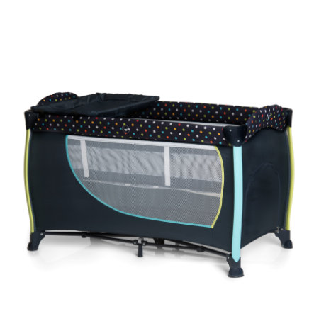 hauck lit parapluie sleep n play center ii multi dots bleu marine. Black Bedroom Furniture Sets. Home Design Ideas