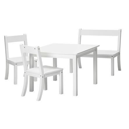 Schardt set tavolo e sedie Bueno bianco 4 pezzi