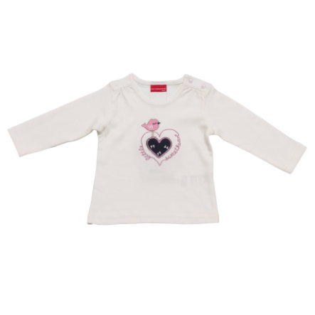 SALT AND PEPPER Baby Glück Girls Longsleeve Love Vogel weiß