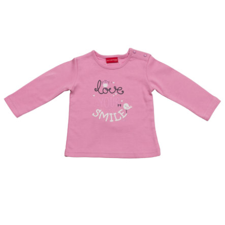 SALT AND PEPPER Baby Glück Girls Longsleeve Love print mauve