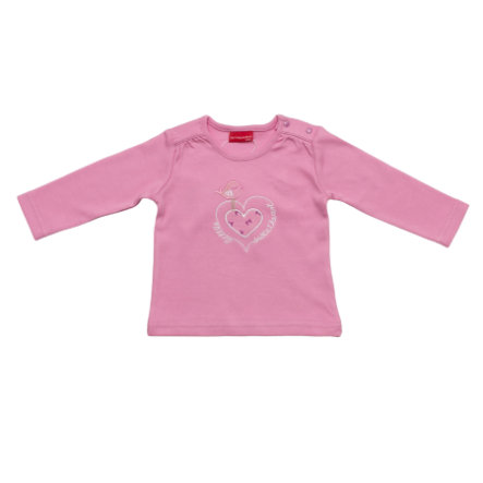 SALT AND PEPPER Baby Glück Girls Longsleeve Love Vogel mauve