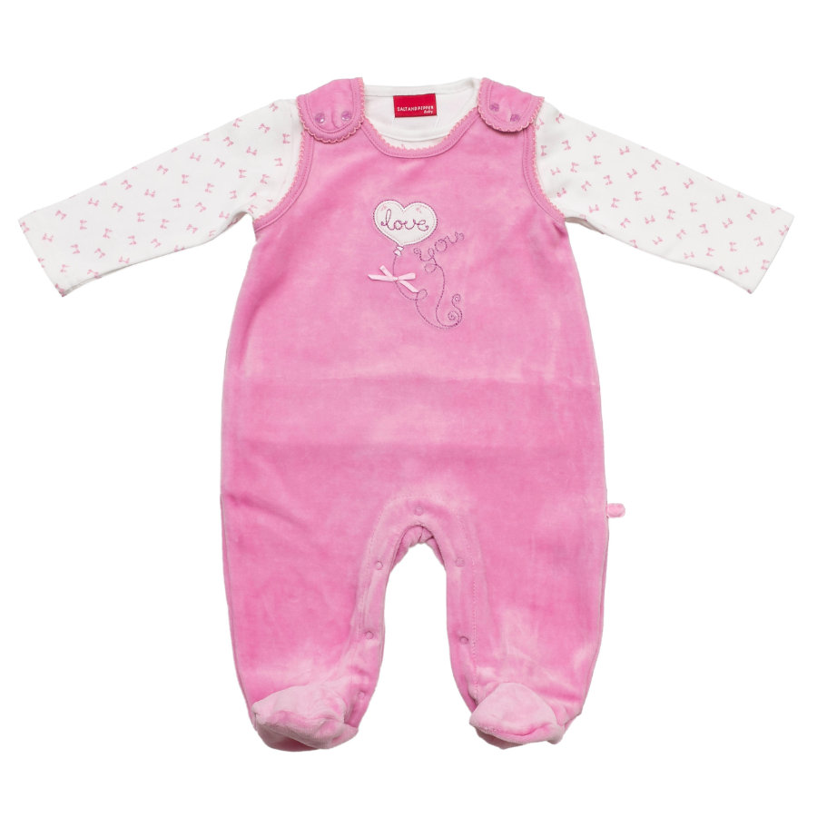 SALT AND PEPPER Baby Glück Girls Nicki Stramplerset Love mauve