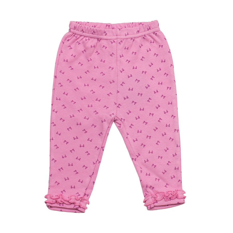 SALT AND PEPPER Baby Glück Girls Legging Love allover mauve